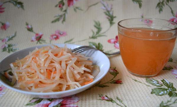 польза сока от квашеной капусты