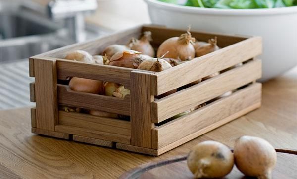 хранение в деревянных ящиках