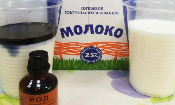 обработка молочными продуктами и йодом