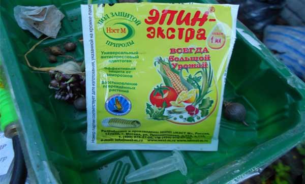 эпин для замачивания семян и луковиц